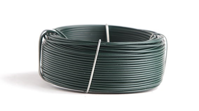 Wire metal green plastified